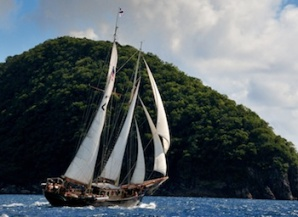 Sailing Vessel In The Caribbean