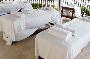 Massage beds outside