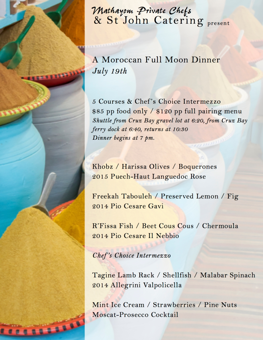 Moroccan Full Moon Dinner