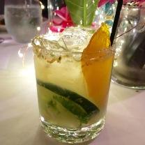 Spicy Serrano Grapefruit Simple Syrup // Fresh Grapefruit Juice // Muddle Cucumber & Cilantro // Tequila // Orange Liqueur // Citrus Salt Rim