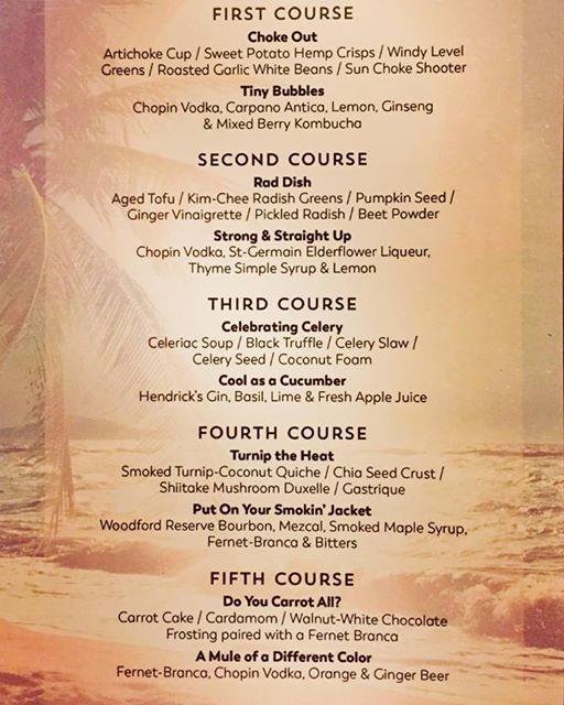 March 2017 menu